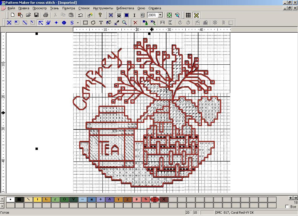 Как в pattern maker сделать схему из фото