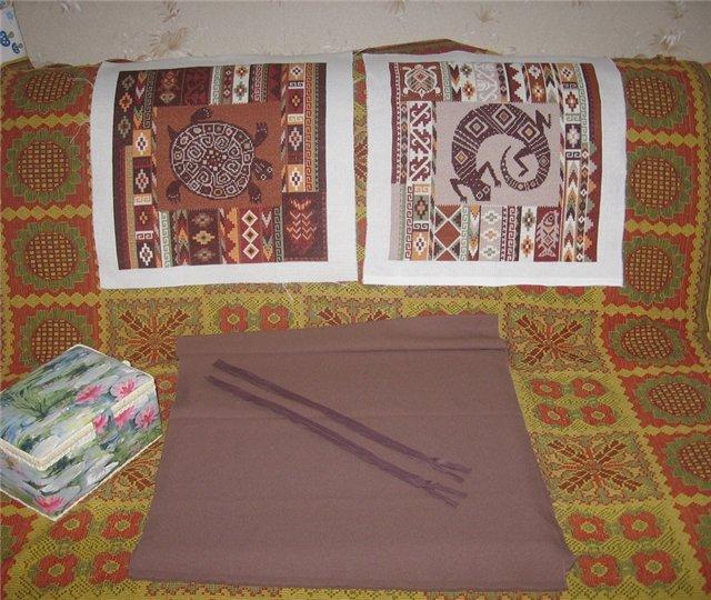 Подушки с вышивкой крестом мастер класс