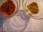 Окраска канвы шафраном и куркумой методом кипячения